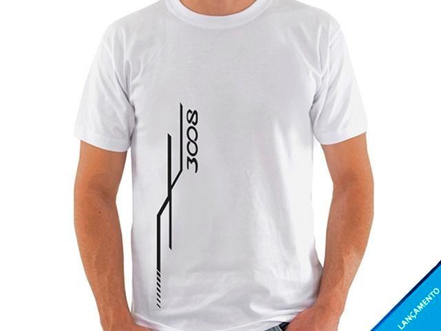 Camiseta Branca Feminina 3008 Graphic